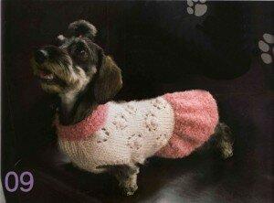 Вязание одежды спицами для собак