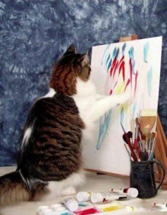 Кот художник