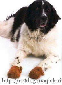 Ботинки для собак своими руками